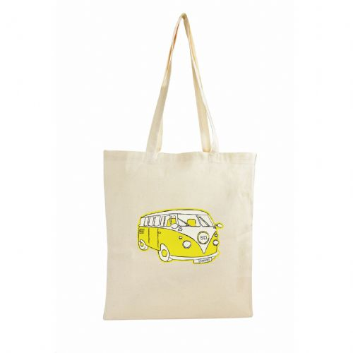 Personalised Yellow Campervan Cotton Bag